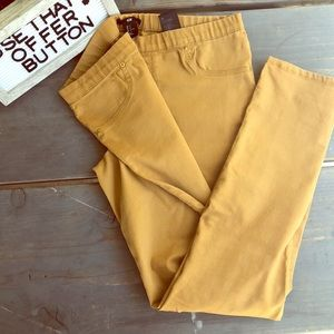 🧡H&M pull up jeggings in MUSTARD!